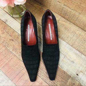 Donald J. Pliner Shoes - Donald J. Pliner Lacia Black Stretch Kitten Heel